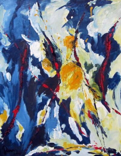 Komposition in Blau 2
